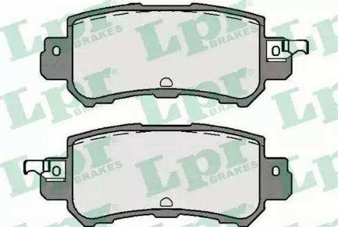 LPR 05P1756 - Тормозные колодки, дисковые sparts.com.ua