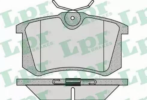 LPR 05P868 - Тормозные колодки, дисковые sparts.com.ua