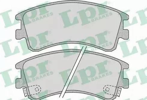 LPR 05P878 - Тормозные колодки, дисковые sparts.com.ua