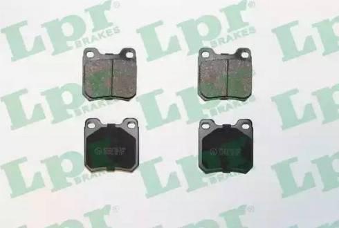 LPR 05P334 - Тормозные колодки, дисковые sparts.com.ua