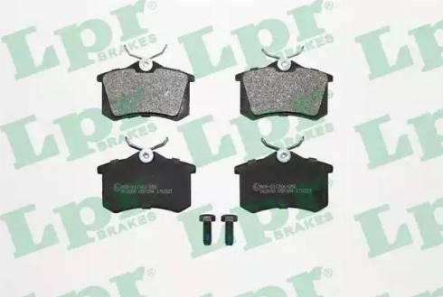 LPR 05P294 - Тормозные колодки, дисковые sparts.com.ua