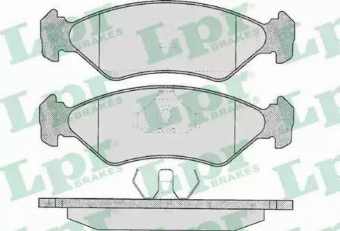 LPR 05P295 - Тормозные колодки, дисковые sparts.com.ua