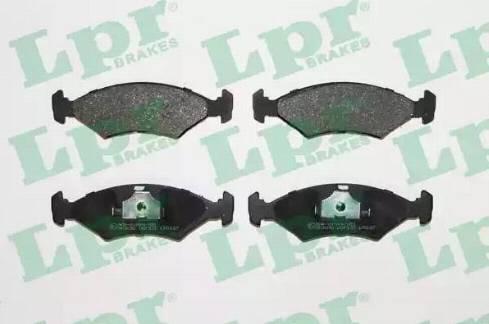 LPR 05P233 - Тормозные колодки, дисковые sparts.com.ua