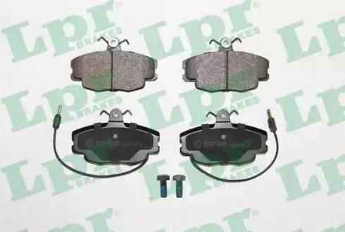 LPR 05P220 - Тормозные колодки, дисковые sparts.com.ua