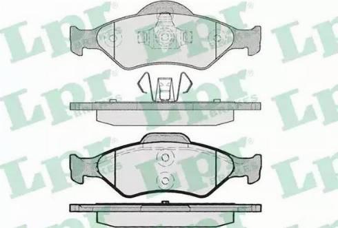 LPR 05P795 - Тормозные колодки, дисковые sparts.com.ua