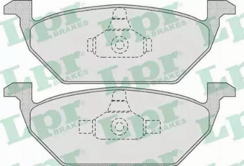 LPR 05P730 - Тормозные колодки, дисковые sparts.com.ua