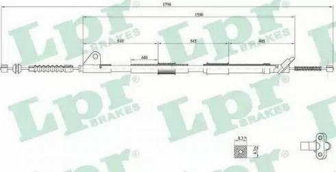 LPR C0857B - Трос, стояночная тормозная система sparts.com.ua