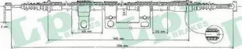 LPR C0395B - Трос, стояночная тормозная система sparts.com.ua
