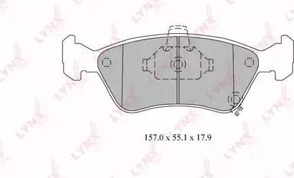 LYNXauto BD-7590 - Тормозные колодки, дисковые sparts.com.ua
