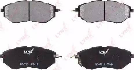 LYNXauto BD-7111 - Тормозные колодки, дисковые sparts.com.ua