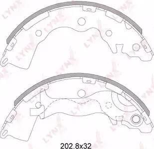 LYNXauto BS-4402 - Комплект тормозных башмаков, барабанные sparts.com.ua