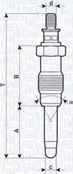 Magneti Marelli 062587001304 - Свеча накаливания sparts.com.ua