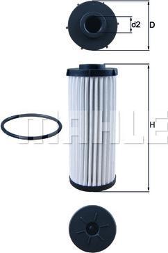 Mahle Original HX 139D - Гидрофильтр, автоматическая коробка передач sparts.com.ua
