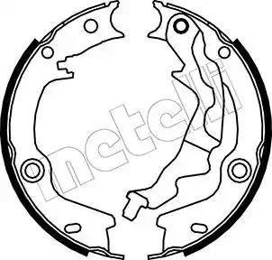 Metelli 53-0187 - Комплект тормозов, ручник, парковка sparts.com.ua