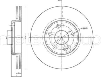 Metelli 23-0533 - Тормозной диск sparts.com.ua