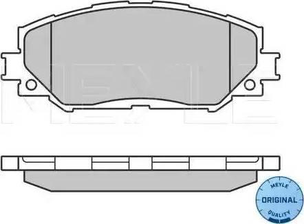 Meyle 025 243 3617 - Тормозные колодки, дисковые sparts.com.ua
