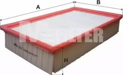 Mfilter K459 - Воздушный фильтр sparts.com.ua