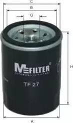 Mfilter TF 27 - Масляный фильтр sparts.com.ua