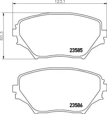 Mintex MDB2155 - Тормозные колодки, дисковые sparts.com.ua