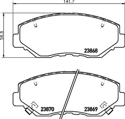 Mintex MDB2265 - Тормозные колодки, дисковые sparts.com.ua