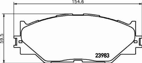 Mintex MDB2747 - Тормозные колодки, дисковые sparts.com.ua