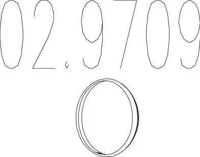 MTS 029709 - Уплотнительное кольцо, труба выхлопного газа sparts.com.ua