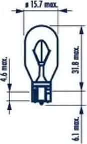 Narva 17631 - Лампа накаливания, дополнительный фонарь сигнала торможения sparts.com.ua