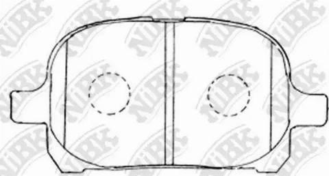 NiBK PN1401 - Тормозные колодки, дисковые sparts.com.ua