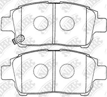 NiBK PN1472 - Тормозные колодки, дисковые sparts.com.ua
