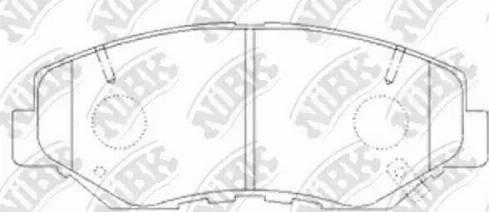 NiBK PN8485 - Тормозные колодки, дисковые sparts.com.ua