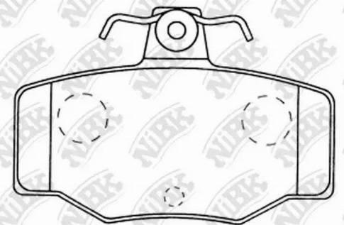 NiBK PN2214 - Тормозные колодки, дисковые sparts.com.ua