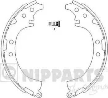 Nipparts J3502050 - Комплект тормозных башмаков, барабанные sparts.com.ua