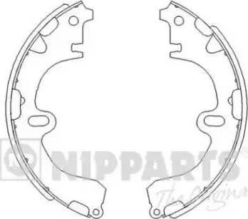 Nipparts J3502001 - Комплект тормозных башмаков, барабанные sparts.com.ua