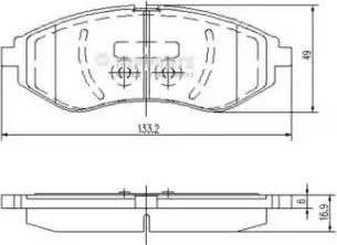 Nipparts J3600911 - Тормозные колодки, дисковые sparts.com.ua