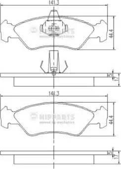 Nipparts J3603049 - Тормозные колодки, дисковые sparts.com.ua