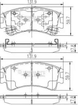 Nipparts J3603056 - Тормозные колодки, дисковые sparts.com.ua