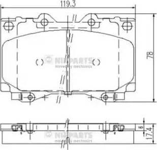 Nipparts J3602097 - Тормозные колодки, дисковые sparts.com.ua