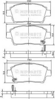 Nipparts J3602088 - Тормозные колодки, дисковые sparts.com.ua