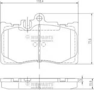 Nipparts J3602111 - Тормозные колодки, дисковые sparts.com.ua