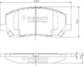 Nipparts J3602118 - Тормозные колодки, дисковые sparts.com.ua