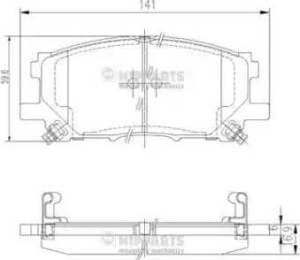 Nipparts J3602125 - Тормозные колодки, дисковые sparts.com.ua