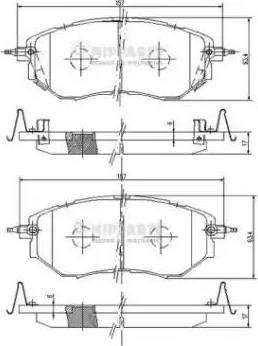 Nipparts J3607019 - Тормозные колодки, дисковые sparts.com.ua