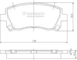 Nipparts J3607013 - Тормозные колодки, дисковые sparts.com.ua