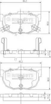 Nipparts J3610505 - Тормозные колодки, дисковые sparts.com.ua