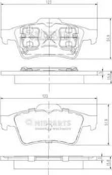 Nipparts J3611045 - Тормозные колодки, дисковые sparts.com.ua