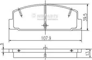 Nipparts J3613002 - Тормозные колодки, дисковые sparts.com.ua