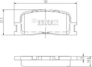 Nipparts J3612024 - Тормозные колодки, дисковые sparts.com.ua