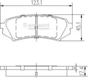 Nipparts J3612022 - Тормозные колодки, дисковые sparts.com.ua