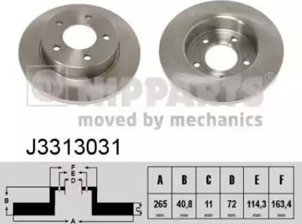 Nipparts J3313031 - Тормозной диск sparts.com.ua