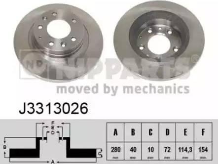 Nipparts J3313026 - Тормозной диск sparts.com.ua
